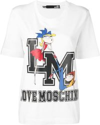 Love Moschino - T-shirt con stampa - Lyst