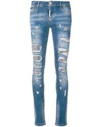 Philipp Plein - Embellished Skinny Jeans - Lyst
