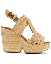 Clergerie - Woven Wedge Sandals - Lyst