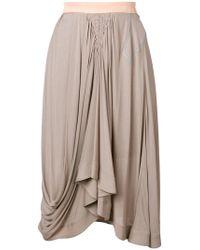 Chloé - Draped Midi Skirt - Lyst