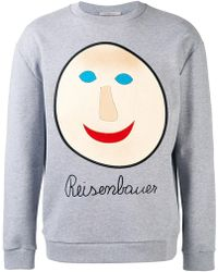 Christopher Kane - Embroidered Face Sweatshirt - Lyst