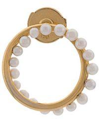 Yvonne Léon - Circular Pearl Earring - Lyst