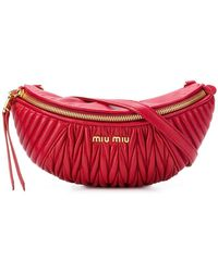 Miu Miu - Ribbed Belt Bag - Lyst