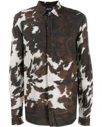 d0406534f17 Saint Laurent Animal-Print Shirt in Natural for Men - Lyst