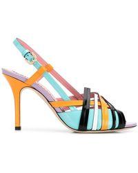 Emilio Pucci - Sandalias en colour block con tira en el talón - Lyst