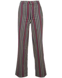 TOME - Striped Trousers - Lyst