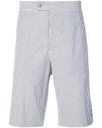 Moncler - Striped Knee Length Shorts - Lyst