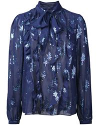 Rebecca Taylor - Filled Loose Blouse - Lyst