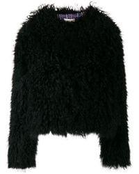 Yves Salomon Long Fur Gilet in Black - Lyst 1da5d6fe2a2