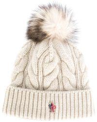 Moncler Grenoble - Cable Knit Bobble Hat - Lyst
