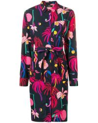 PS by Paul Smith - Floral Belted Shirt Dress - Lyst