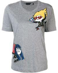 Love Moschino - Embroidered Cartoon T-shirt - Lyst