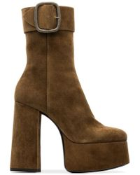 Saint Laurent - Billy Suede Ankle Boots - Lyst