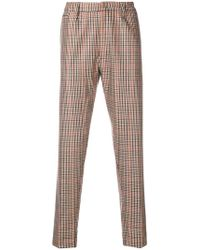 Dondup - Slim Fit Checked Trousers - Lyst