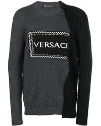 Versace - Jersey asimétrico con logo - Lyst
