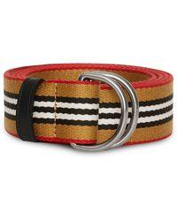 Burberry - Heritage Stripe Double D-ring Belt - Lyst