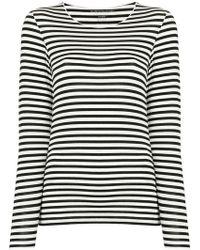 Majestic Filatures - Striped Longsleeved T-shirt - Lyst
