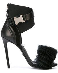 1762425cf2eae3 Balmain Elvira Strass Rhinestone Sandals in Black - Lyst