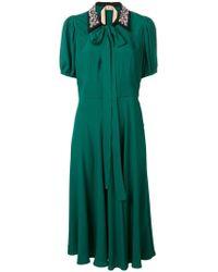 N°21 - Embellished Collar Dress - Lyst