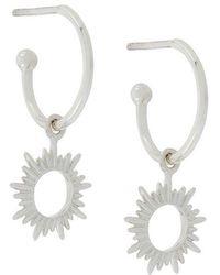 Rachel Jackson - Sunrays Mini Hoop Earrings - Lyst