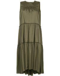 Astraet - Flared Pleated Midi Dress - Lyst
