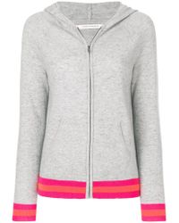 Chinti & Parker - Stripe Trim Zipped Hoodie - Lyst