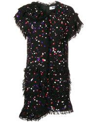 MSGM - Spotted Bouclé Mini Dress - Lyst