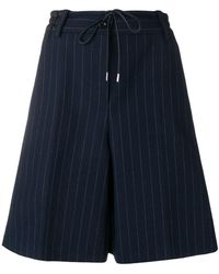 Sacai - Striped Pleated Shorts - Lyst