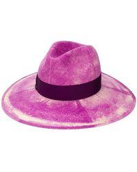 996cec4eed237 Lyst - Gucci Straw Effect Woven Lurex Hat in Metallic