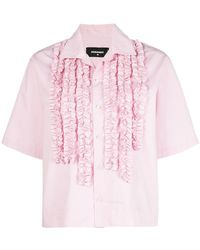 DSquared² - Embroidered Short-sleeve Shirt - Lyst