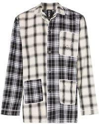 Liam Hodges - Pyjama Shirt Met Ruiten - Lyst