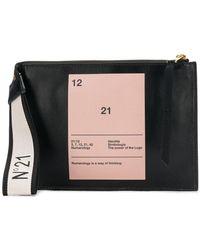 N°21 - Numerology Clutch Bag - Lyst
