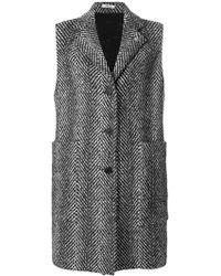 Lardini - Patterned Sleeveless Coat - Lyst