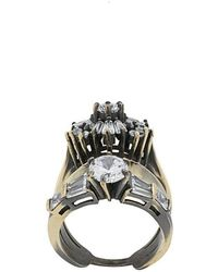 Iosselliani - White Eclipse Stacked Ring - Lyst