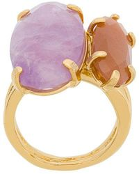 Wouters & Hendrix - Technofossils Amethyst And Sunstone Ring - Lyst