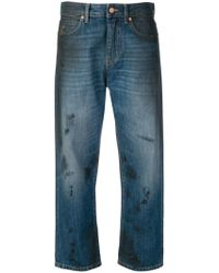 Vivienne Westwood Anglomania - Brush Stroke Cropped Jeans - Lyst