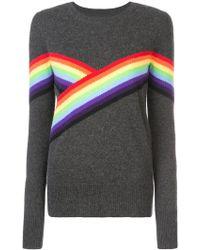 Madeleine Thompson - Rainbow Stripe Detail Jumper - Lyst