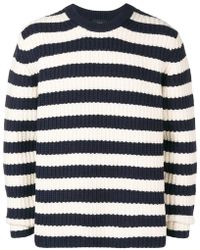 JOSEPH - Striped Crew Neck Jumper - Lyst