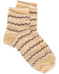 Missoni - Short Knitted Socks - Lyst