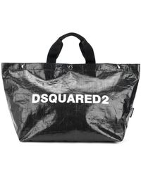 DSquared² - Logo Printed Tote Bag Medium - Lyst