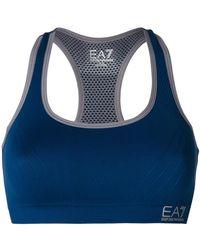 EA7 - Logo Crop Top - Lyst