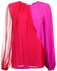 Prabal Gurung - Contrast Long-sleeve Blouse - Lyst