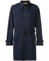 Canali - Short Trench Coat - Lyst