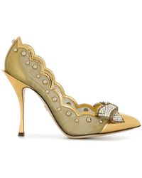 Dolce & Gabbana | Scalloped Bow Court Shoes | Lyst