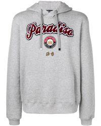 "Dolce & Gabbana - Kapuzenpullover mit ""Paradiso""-Patch - Lyst"