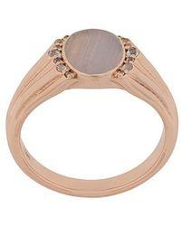 Astley Clarke - Lace Agate Luna Signet Ring - Lyst