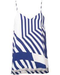Erika Cavallini Semi Couture - Striped Vest Top - Lyst