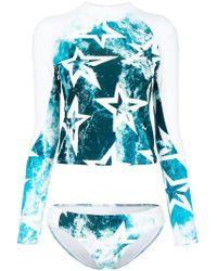 Perfect Moment - Wild Ocean Star Print Rashguard - Lyst