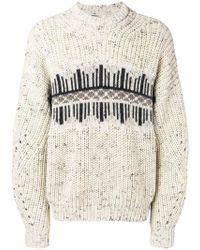 Isabel Marant - Printed Knit Jumper - Lyst