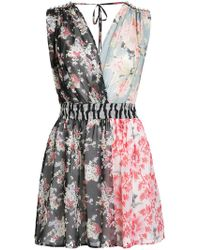 Amen | Patched Floral Sleeveless Dress | Lyst